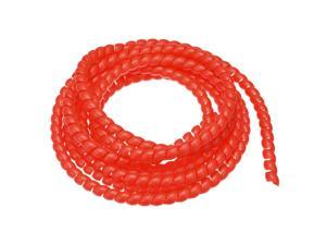 Details about  /Flexible Spiral Tube Wrap Cable Management Sleeve 8mm x 10mm 3 Meters Length Red