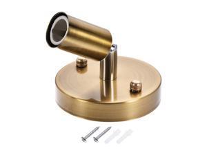 E14 Bulb Holder Socket Ceiling Lamp Light Wall Mounted 180 Degree Adjustable 100x20mm Gold Bronze 2Pcs