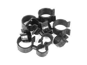 5pcs Car Plastic Fasteners Oil Pipe Clip Retainer Double Hole Holder Clamp Black 47x27.5mm for BMW 3 Series