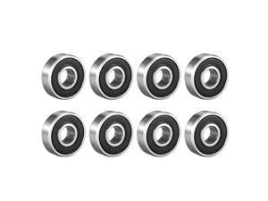 Deep Groove Ball Bearing 608-2RS Double Sealed 8mmx22mmx7mm Carbon Steel 8Pcs