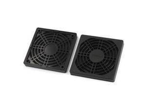 Cooling Fan Plastic Dust Filter Mesh Guard Grill Protector 80mm x 80mm 2Pcs