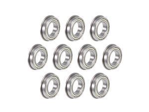 F6801ZZ Flange Ball Bearing 12x21x5mm Shielded Chrome Bearings 10pcs