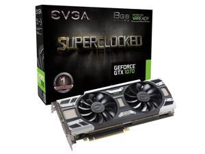 EVGA GeForce GTX 1070 SC GAMING ACX 3.0, Whisper Silent Cooling Graphics Card 08G-P4-6173-KR