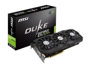 MSI Gaming GeForce GTX 1070 Ti 256-Bit 8GB GDDR5 VR Ready DirectX12 SLI Support Graphics Card (GTX 1070 TI DUKE 8G)