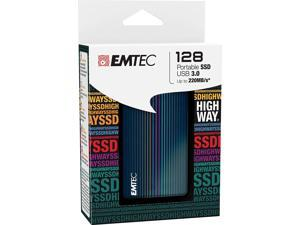 Emtec X500 Highway Portable 128GB SuperSpeed USB 3.0 External 2.5 MLC Solid State Drive (SSD)