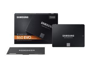 """Samsung 860 EVO MZ-76E250B/AM 250 GB 2.5"""" Internal Solid State Drive - SATA - 550 MB/s Maximum Read Transfer Rate - 520 MB/s Maximum Write Transfer Rate - 256-bit Encryption Standard"""