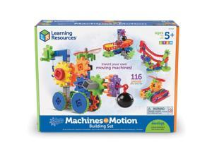 """Learning Resources Building Set Machines in Motion 11""""Wx14-1/2""""Lx4""""H Multi"""