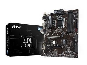 MSI Z370-A PRO INTEL 8TH GEN ATX DDR4 64GB 2PCIEX16 CFX M.2 DSUB DVI DP USB3.1