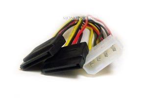 SATA Serial ATA Splitter Power Cable(1 X 5.25 to 2 15 pin SATA power connecto...