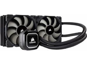 Corsair Hydro Series H100x Extreme Performance Liquid / Water 240mm CPU Cooler (CW-9060040-WW)