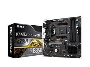 MSI B350M PRO-VDH AMD Socket B350 AM4 MicroATX M.2 Desktop Motherboard A