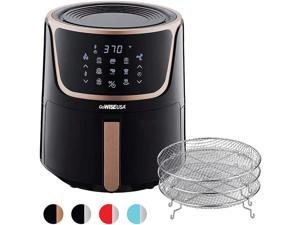 GoWISE GW22955 7-Quart Electric Air Fryer with Dehydrator & 3 Stackable Racks - Black/Copper