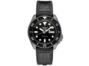 Seiko SRPE25 5 Sports Watch - Silicone Strap - Black