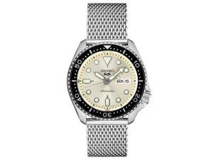 Seiko SRPE75 5 Sports 24-Jewel Stainless Steel watch with rotating bezel
