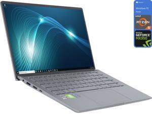"ASUS Zenbook Q Series Notebook, 14"" FHD Display, AMD Ryzen 5 4500U Upto 4.0GHz, 8GB RAM, 256GB NVMe SSD, NVIDIA GeForce MX350, HDMI, Card Reader, Wi-Fi, Bluetooth, Windows 10 Home (Q407IQ-BR5N4)"