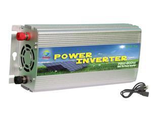 Solinba 500w on grid tie pure sine wave power inverter DC22-56v to AC 90-130v, 46-65Hz, USA plug, Silver color