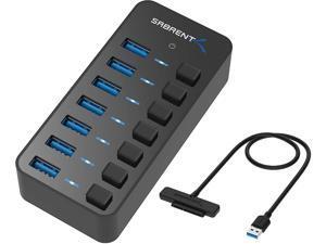 Sabrent 36W 7-Port USB 3.0 Hub + USB 3.0 to SSD / 2.5-Inch SATA I/II/IIIHard Drive Adapter
