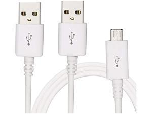 Micro USB Cable Powerline Micro USB iBarbe 2A Quick Charge Durable High Speed USB 2.0 A Male to Micro B Sync and Charging Data Cables for Samsung for Android Smartphone&Tablets (2 Pack White 6Ft)