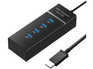 DANGAO USB C HUB Multi Type-C 3.1 USB 4 Port OTG Adapter Splitter (Color : Black Type c 3.1)
