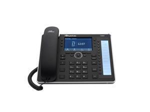 AudioCodes UC445HDEG VOIP Phone POE - 4.3 Inch Color Multi-Lingual LCD Screen - Black