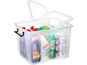 """CEP Storage Box 40 Liter 15-3/5""""Wx19-7/10""""Dx13""""H Clear 2006740110"""