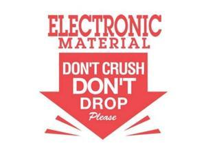 """3"""" x 3"""" Electronic Material Don't Crush Don't Drop Please Labels (500 per Roll)"""
