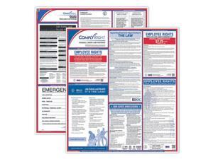 """ComplyRight Fed/State Alabama Compliance Labor Law Poster Kit, Laminated, 24"""" x 24"""" - 1 set per pack"""