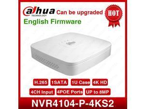 Dahua NVR4104-P-4KS2 NVR 4 Channel Smart Mini 1U 4PoE 4K&H.265  Network Video Recorder