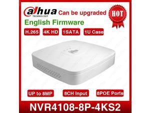 Dahua NVR4108-8P-4KS2 8CH Smart 1U 8PoE 4K&H.265 Lite Network Video Recorder