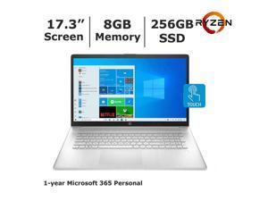 """HP 17.3"""" Touch 17-cp0056nr AMD Ryzen 3 3250u,  8GB DDR4, 256GB SSD, AMD Radeon Graphics, Webcam, Bluetooth, Windows 10 Home,  Silver"""