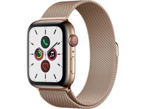 Apple Watch Series 5 (GPS + Cellular) - 44 mm - gold stainless steel - smart watch with milanese loop - steel mesh - gol