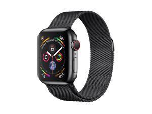 Apple MTVM2B/A Watch Series 4 GPS + Cellular, 40mm Space Black Stainless Steel Case Space Black Milanese Loop