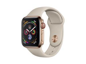 Apple MTVN2B/A Watch Series 4 GPS + Cellular, 40mm Gold Stainless Steel Case with Stone Sport Band