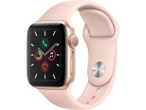 Apple Watch Series 5 (GPS) - 40 mm - gold aluminium - smart watch with sport band - fluoroelastomer - pink sand - band s