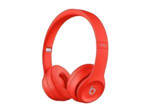Beats Solo3 (PRODUCT)RED - Headphones with mic - on-ear - Bluetooth - wireless - 3.5 mm jack - noise isolating - citrus