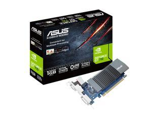 ASUS GT710-SL-1GD5-BRK GeForce GT 710 DirectX 12 90YV0AL2-M0NA00 1GB 32-Bit GDDR5 PCI Express 2.0 HDCP Ready Low Profile Video Card