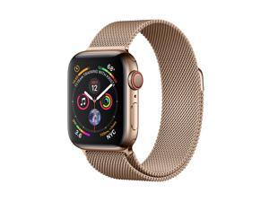 Apple MTVQ2B/A Watch Series 4 GPS + Cellular, 40mm Gold Stainless Steel Case with Gold Milanese Loop