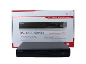 HikVision NVR, 16-Channel, H264, up to 6MP, Integrated 16-port PoE, HDMI, 2-SATA, No HDD (DS-7616NI-E2/16P )