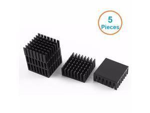 5pcs/lot Black Aluminum Fin 28x28x11mm Electronic Cooling Radiator Heatsink for CPU,GPU Graphics Video Card,1W LED dissipator