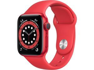 Apple Watch Series 6 M00A3LL/A 40mm Aluminum Case WiFi Only Bluetooth GPS Red Sports Band