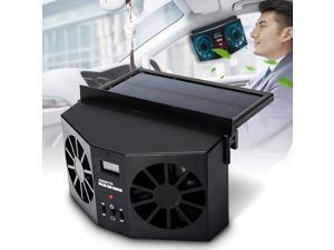 Solar And Rechargeable Battery Car Vehicle Exhaust Fan Car Cooler Solar Cooler Car Radiator Mini Fan