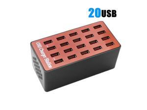 USB Charger 20 Ports USB Hub Quicky Charge 3.0 Station Power Adapter Universal for iPhone7 8 iPhone 8 Plus X iPad Samsung Huawei