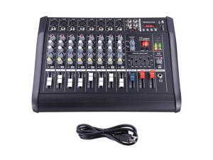 8 Channel Pro Powered Mixer Audio power mixing Amplifier Amp 16DSP w/ USB Slot