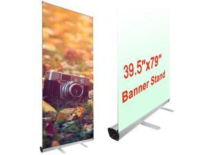 """Professional 39.5""""x79"""" Retractable Roll Up Banner Stand Trade Show Signage Display"""