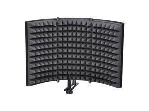 Yescom Studio Microphone Isolation Shield Acoustic Foam 2/3 Panel Sound Absorbing Recording Panel Stand Mount