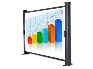 "30"" Metallic Fabric TableTop Mini Projection Projector Screen w/ Portable Bag"