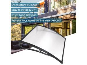 "39x39"" Clear One-piece Polycarbonate Hollow Sheet Porch Window Door Cover Awning for UV Rain Snow"