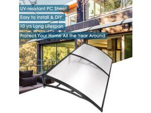 "78x39"" Clear 2 Whole Polycarbonate Hollow Sheets Porch Window Door Patio Cover Awning"
