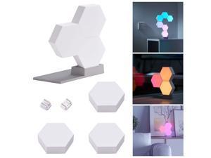 LifeSmart WiFi Smart LED Light Kit Splicing 6 Block Base 16 Million Color Work w/ Alexa Google Decor