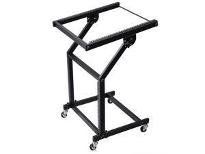 9U DJ Mixer Stand Rack Mount Stage Cart Music Equipment Studio Party Show